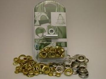 Picture of 11mm Nickel Plated Brass Eyelet kit
