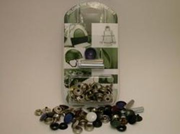 Picture of Nickel plated brass press stud canvas to screw kit