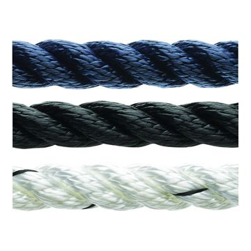Picture of 12mm Marlow 3 strand Polyester Anchoring and Mooring Rope